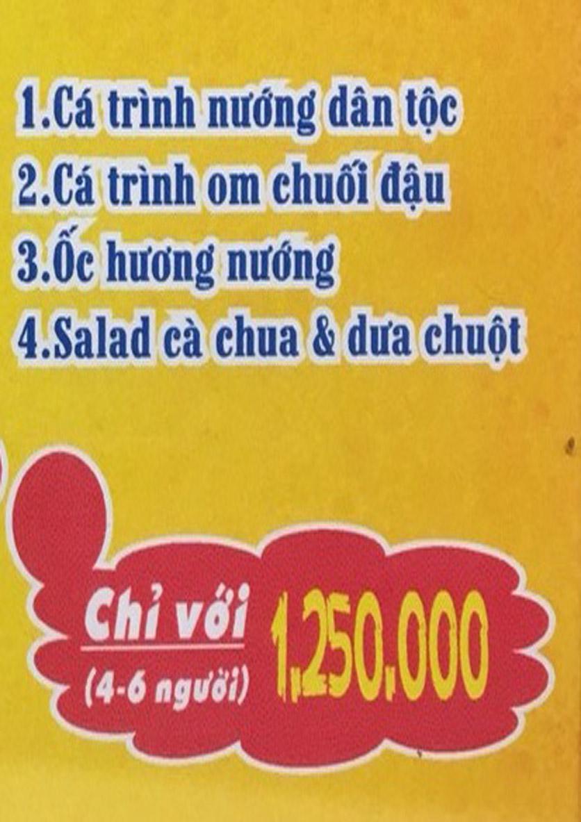 Menu Boong Restaurant – Nguyên Hồng 2