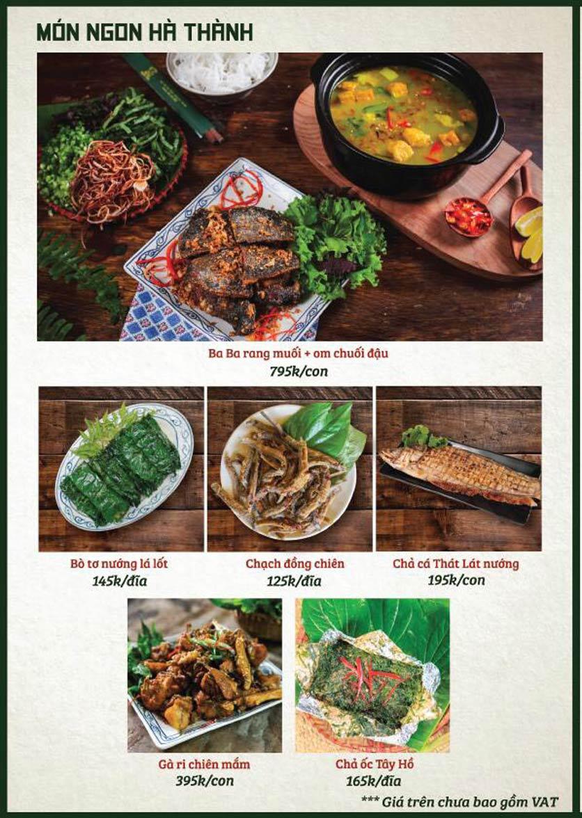 Menu Bò Tơ Quán Mộc - Nguyễn Thị Định 3