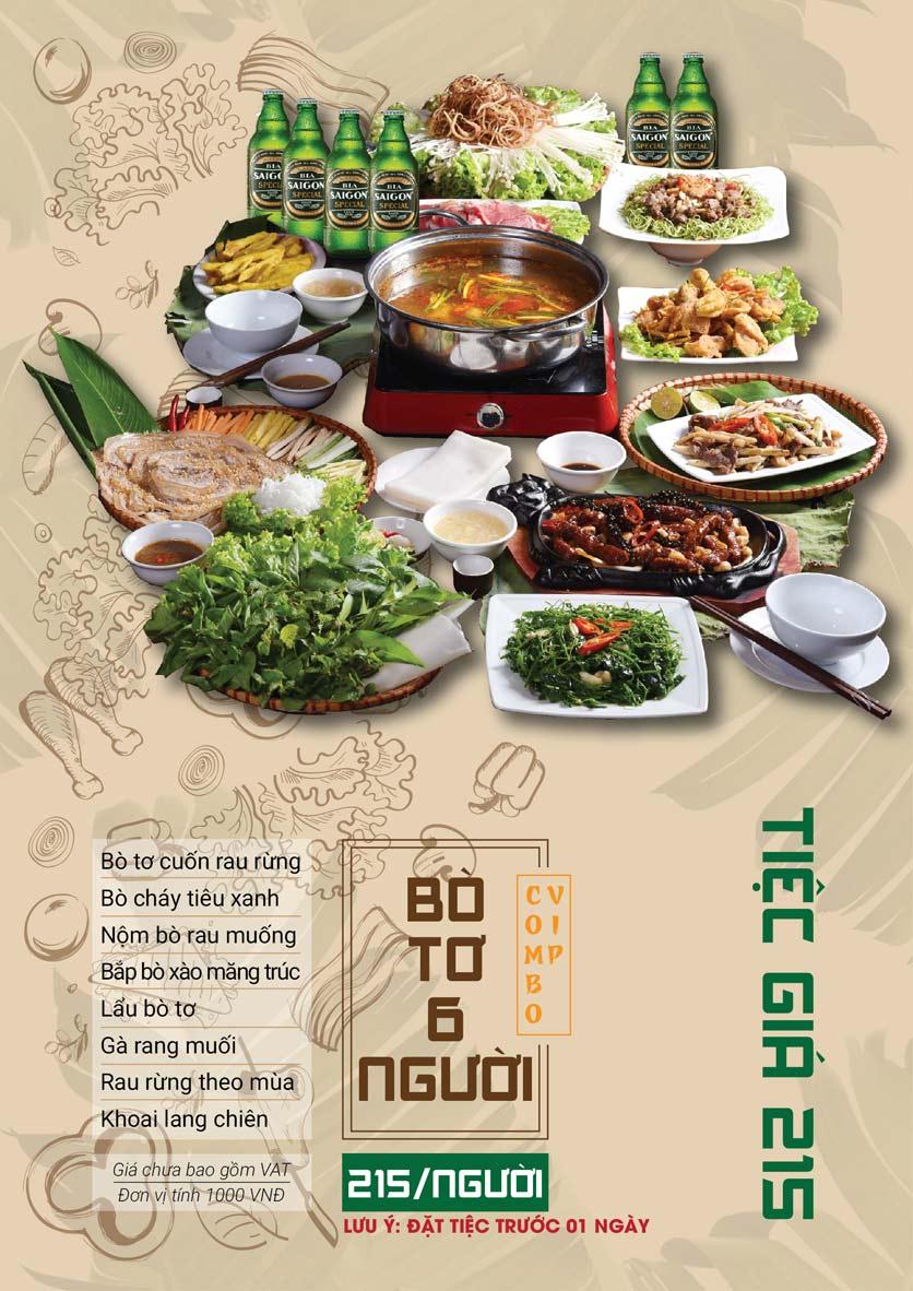 Menu Bò Tơ Quán Mộc - Hoàng Quốc Việt 9