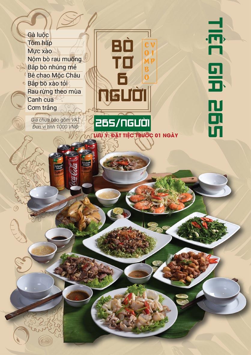 Menu Bò Tơ Quán Mộc - Hoàng Quốc Việt 10