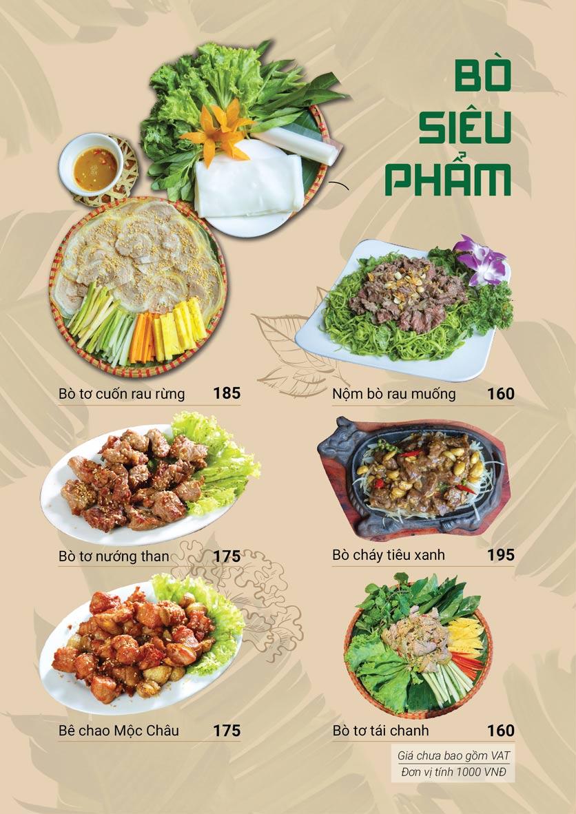 Menu Bò Tơ Quán Mộc - Hoàng Quốc Việt 3