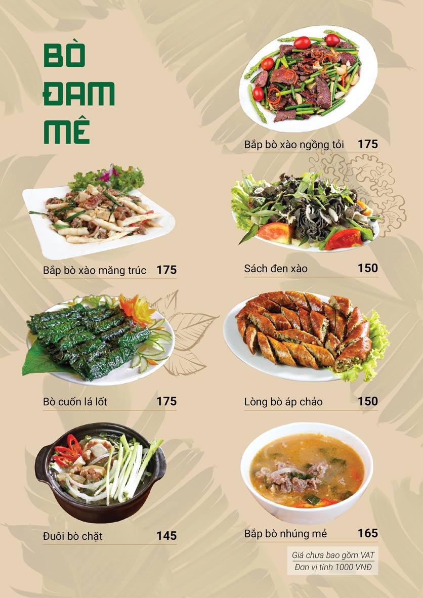 Menu Bò Tơ Quán Mộc - Hoàng Quốc Việt 4