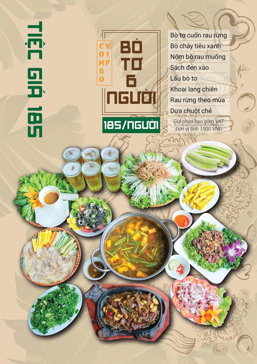 Menu Bò Tơ Quán Mộc - Hoàng Quốc Việt 7