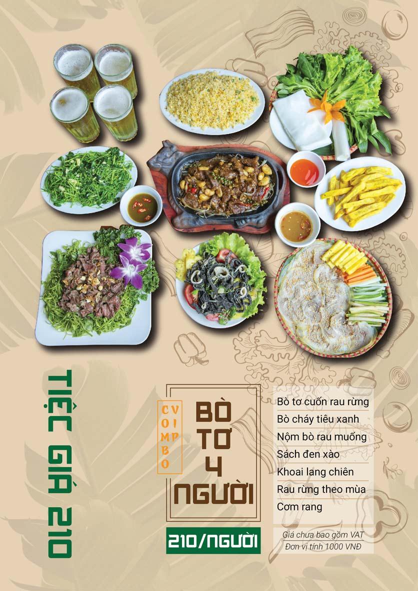 Menu Bò Tơ Quán Mộc - Hoàng Quốc Việt 8