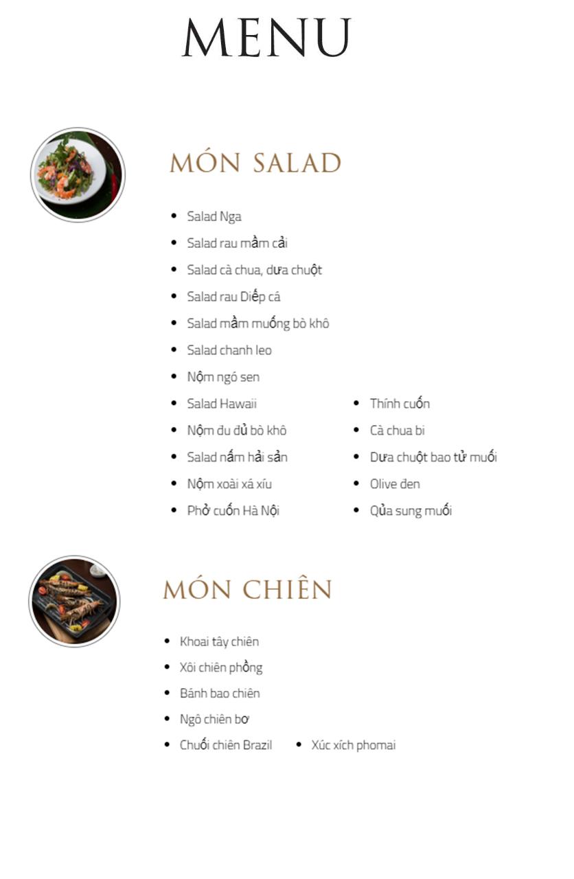 Menu Bay Seafood Buffet - Hồ Tây 2