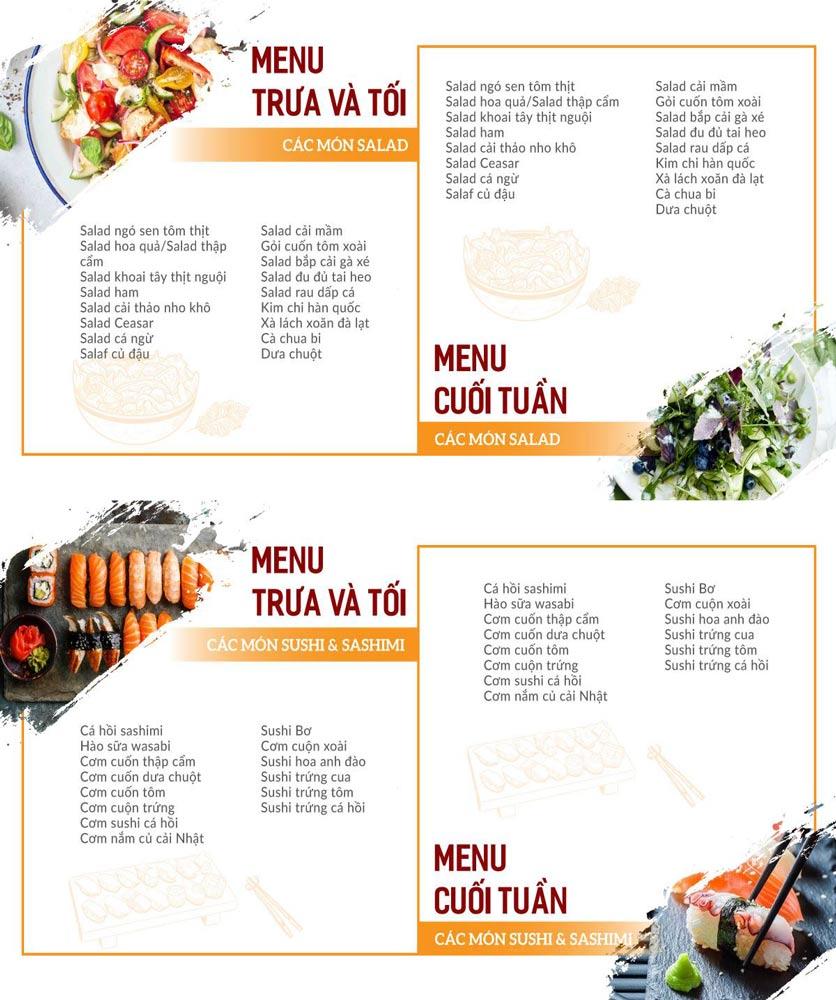 Menu Buffet Poseidon - Lê Văn Lương 3