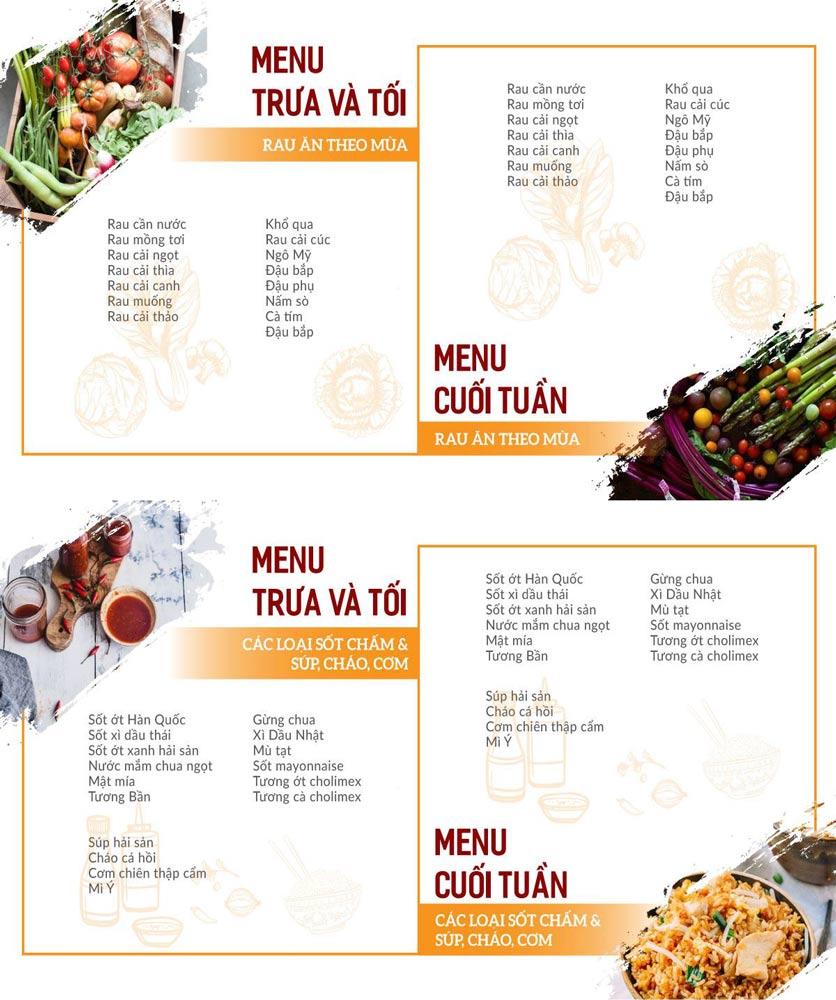 Menu Buffet Poseidon - Lê Văn Lương 4