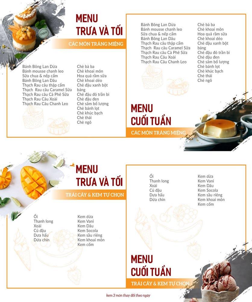 Menu Buffet Poseidon - Lê Văn Lương 5