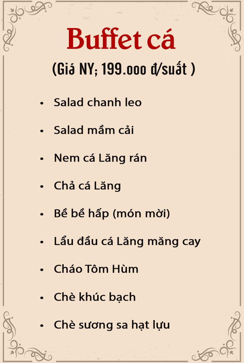 Menu Chả Cá Bay - Thanh Niên 2