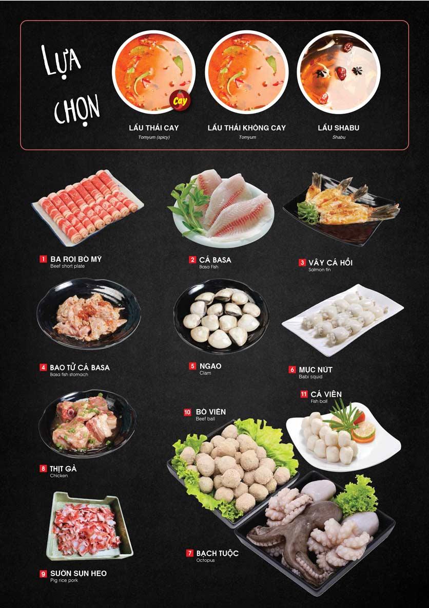 Menu Cheep Eats - Buffet nướng - lẩu - hải sản - Nguyên Hồng 16