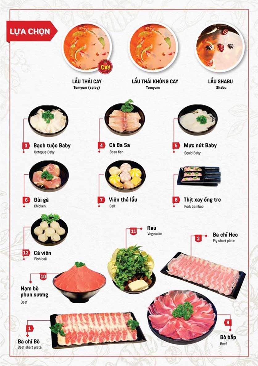 Menu Cheep Eats - Buffet nướng - lẩu - hải sản - Nguyên Hồng 2