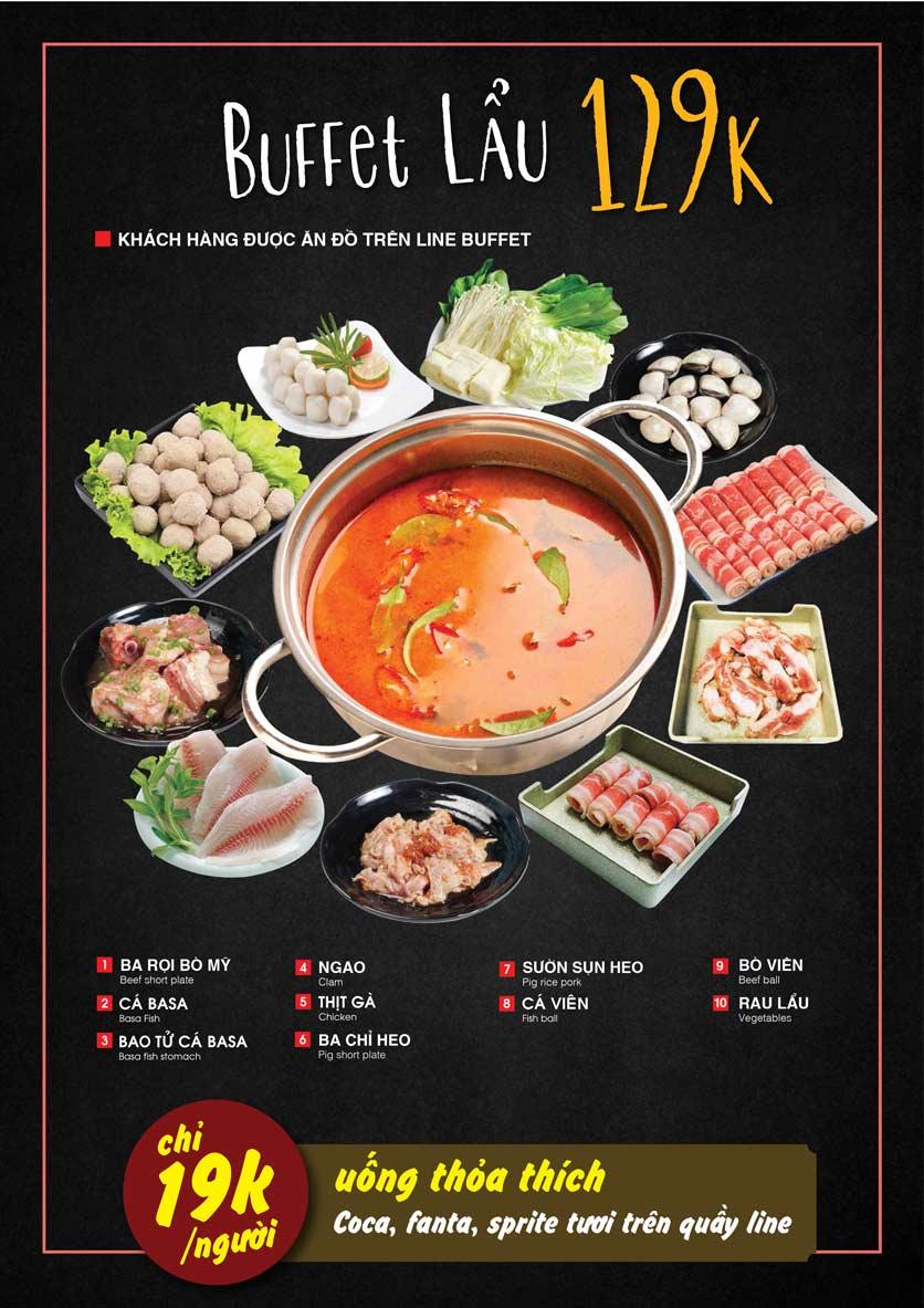 Menu Cheep Eats - Buffet nướng - lẩu - hải sản - Nguyên Hồng 4