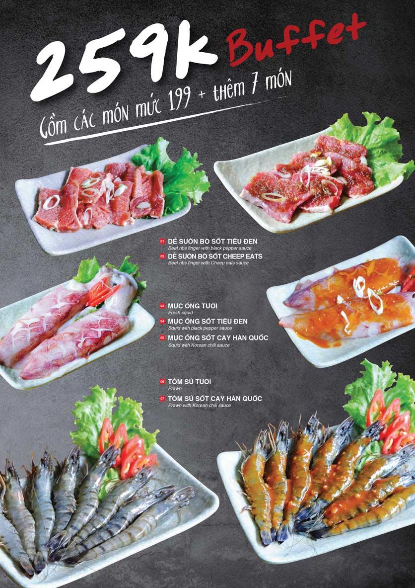 Menu Cheep Eats - Buffet nướng - lẩu - hải sản - Nguyên Hồng 5