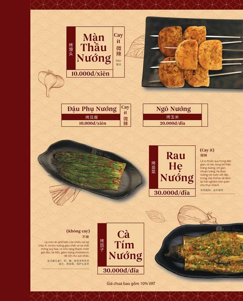 Menu ChiFan - Trung Hòa 7