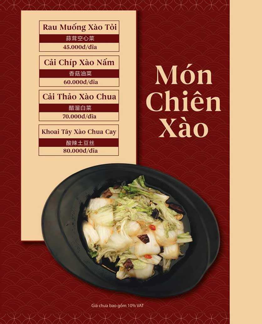 Menu ChiFan - Trung Hòa 8
