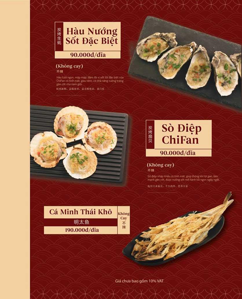 Menu ChiFan - Trung Hòa 9