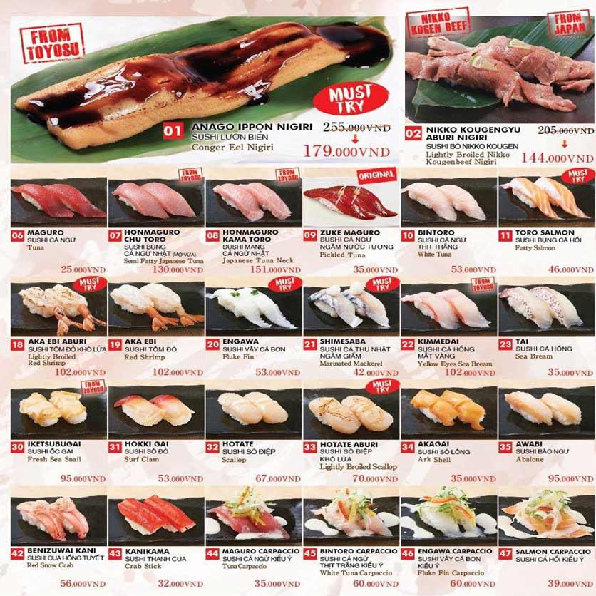 Menu Chiyoda Sushi - Pasteur 1