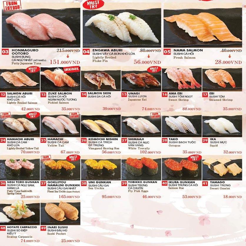 Menu Chiyoda Sushi - Pasteur 2