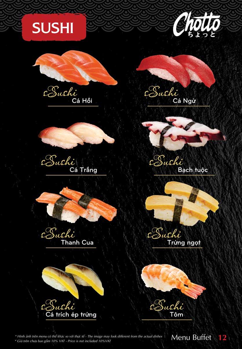 Menu Chotto - Sushi & BBQ - Vũ Phạm Hàm 13