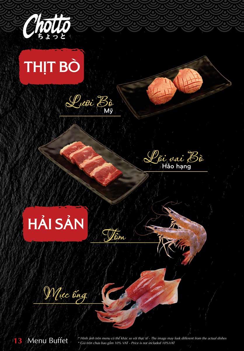 Menu Chotto - Sushi & BBQ - Vũ Phạm Hàm 14