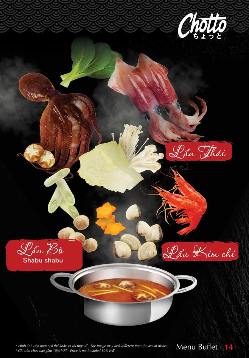 Menu Chotto - Sushi & BBQ - Vũ Phạm Hàm 15