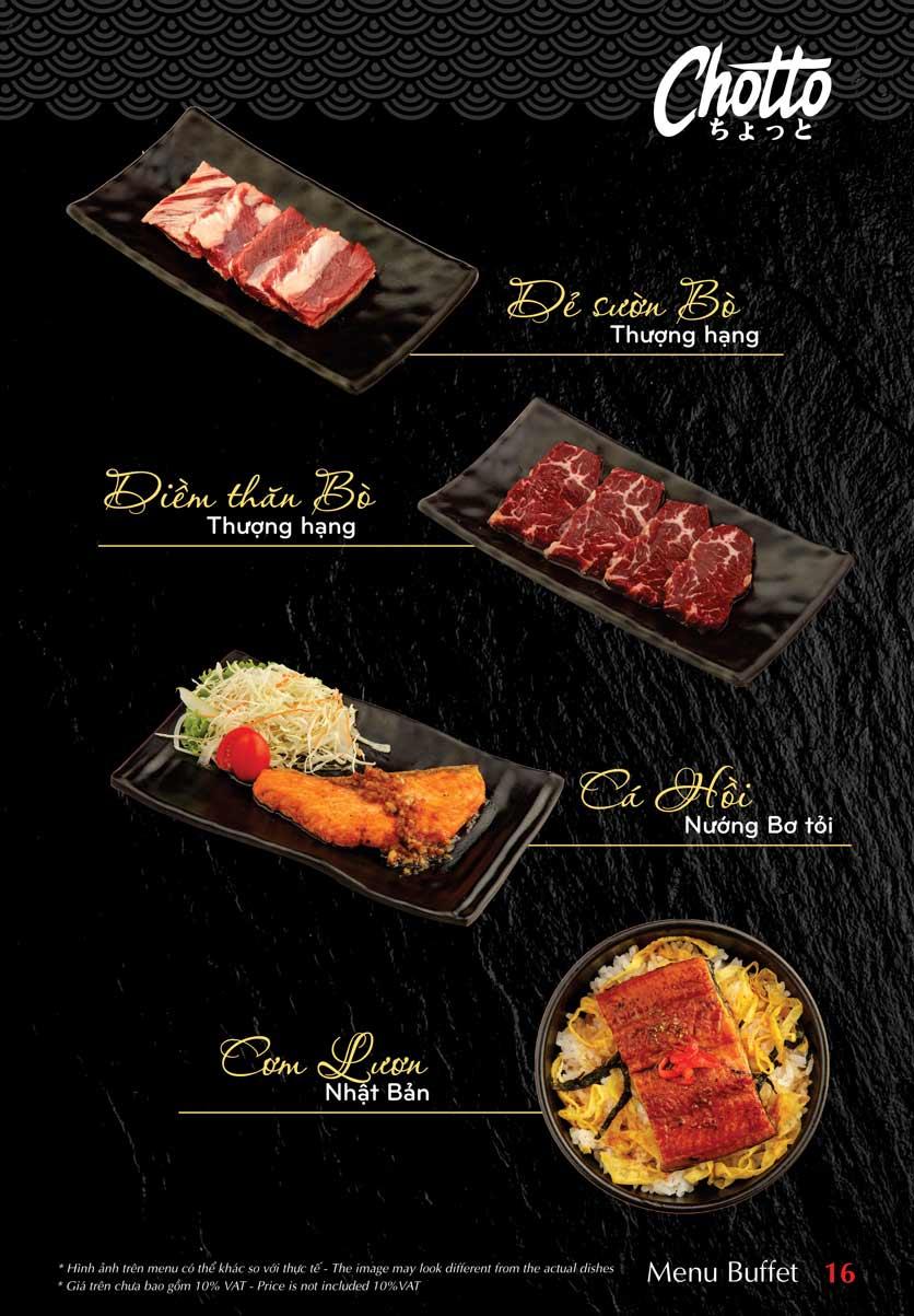 Menu Chotto - Sushi & BBQ - Vũ Phạm Hàm 17
