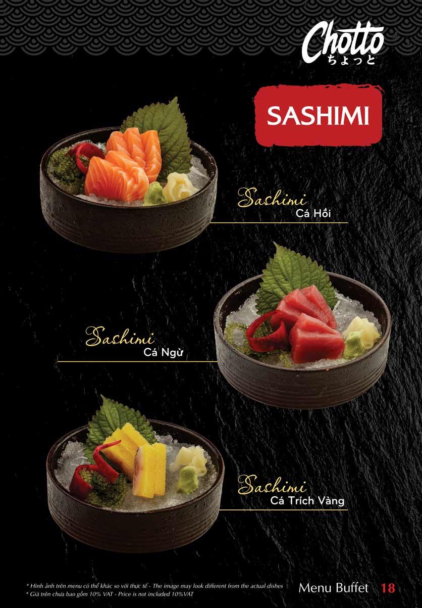 Menu Chotto - Sushi & BBQ - Vũ Phạm Hàm 19