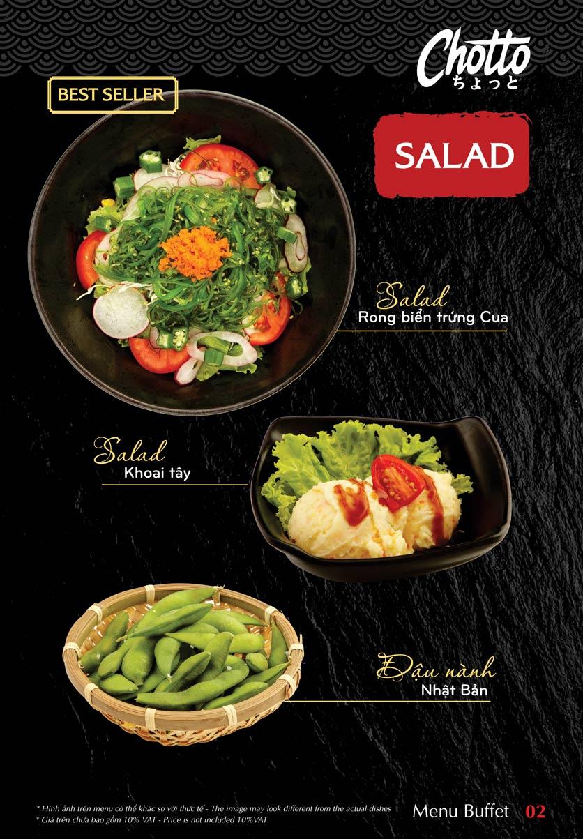 Menu Chotto - Sushi & BBQ - Vũ Phạm Hàm 3