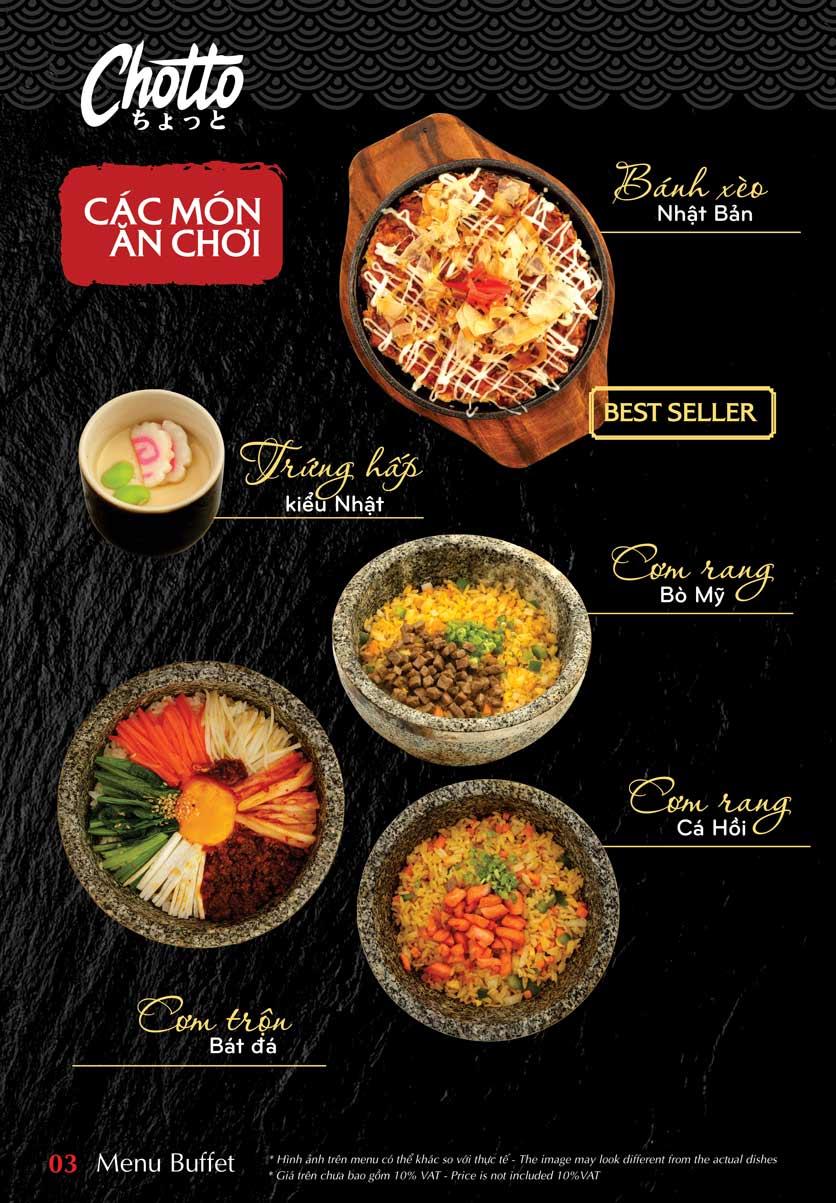 Menu Chotto - Sushi & BBQ - Vũ Phạm Hàm 4