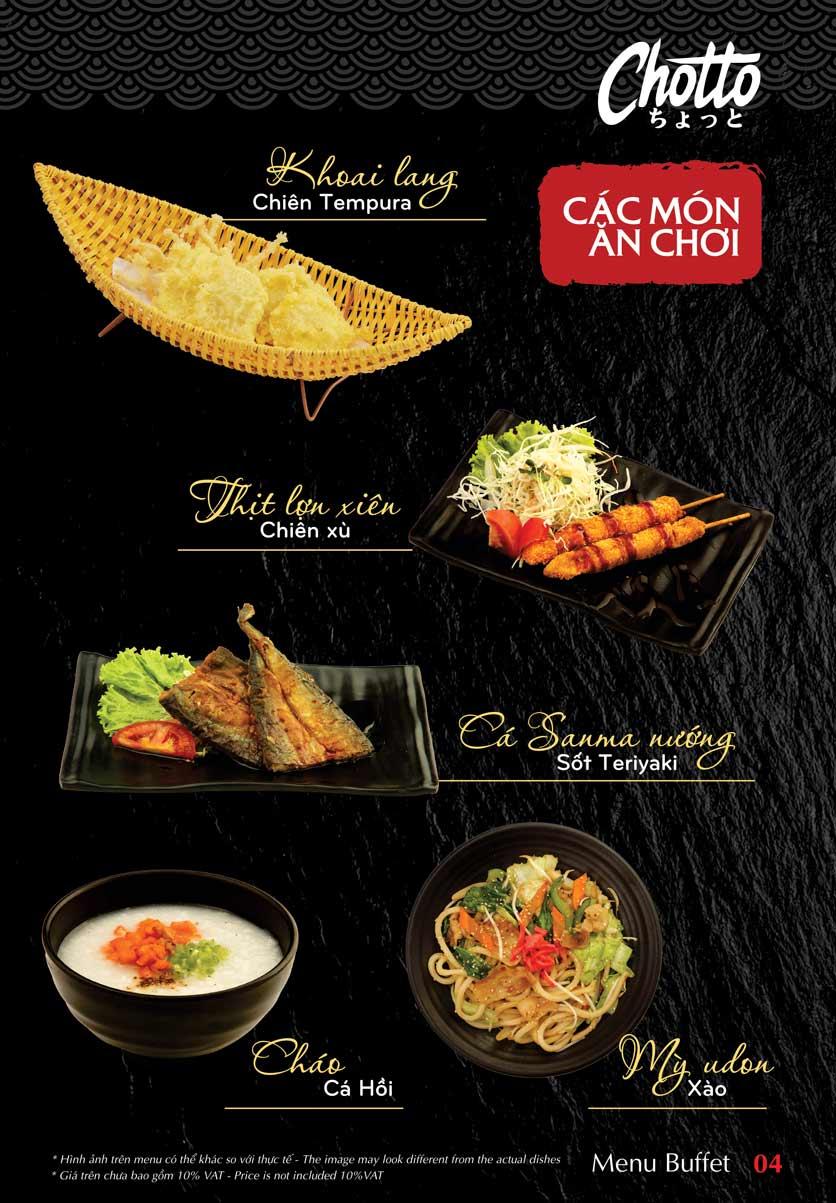 Menu Chotto - Sushi & BBQ - Vũ Phạm Hàm 5