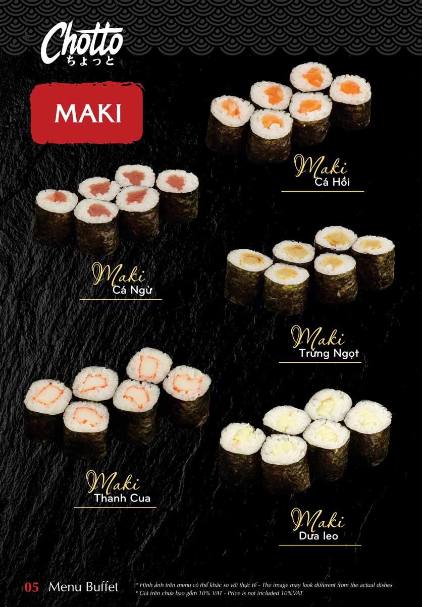 Menu Chotto - Sushi & BBQ - Vũ Phạm Hàm 6