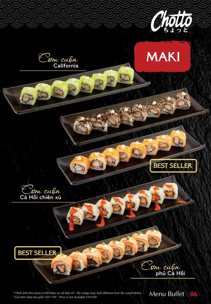 Menu Chotto - Sushi & BBQ - Vũ Phạm Hàm 7