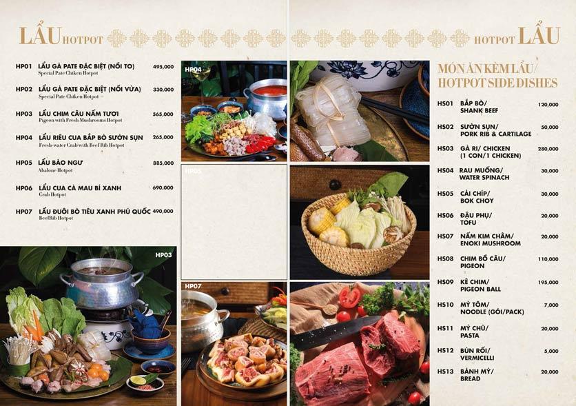 Menu 1915y Restaurant – Trung Hòa 12