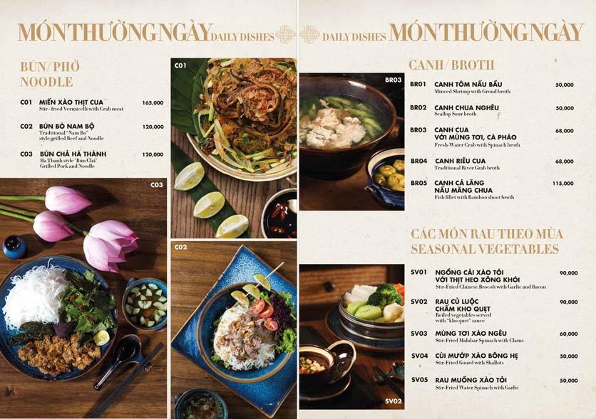 Menu 1915y Restaurant – Trung Hòa 15