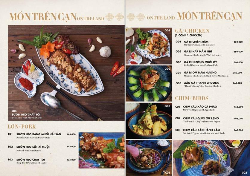 Menu 1915y Restaurant – Trung Hòa 17