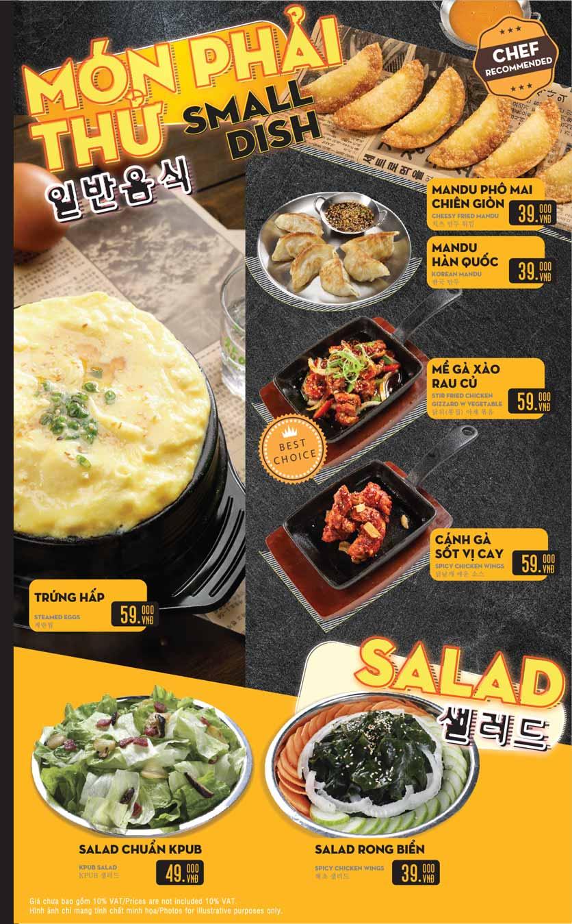 Menu K-Pub - Aeon Mall Bình Tân 22