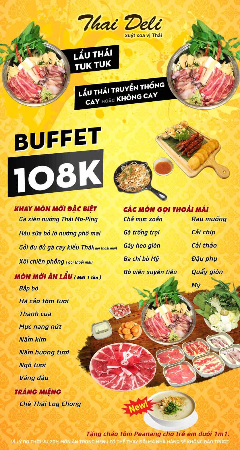 Menu Thai Deli - Buffet Lẩu Thái - Hàm Nghi 1