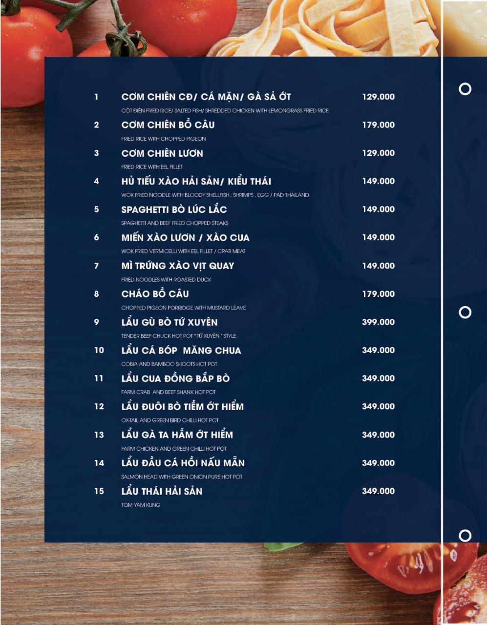 Menu Cột Điện Kitchen – Đồng Nai 1