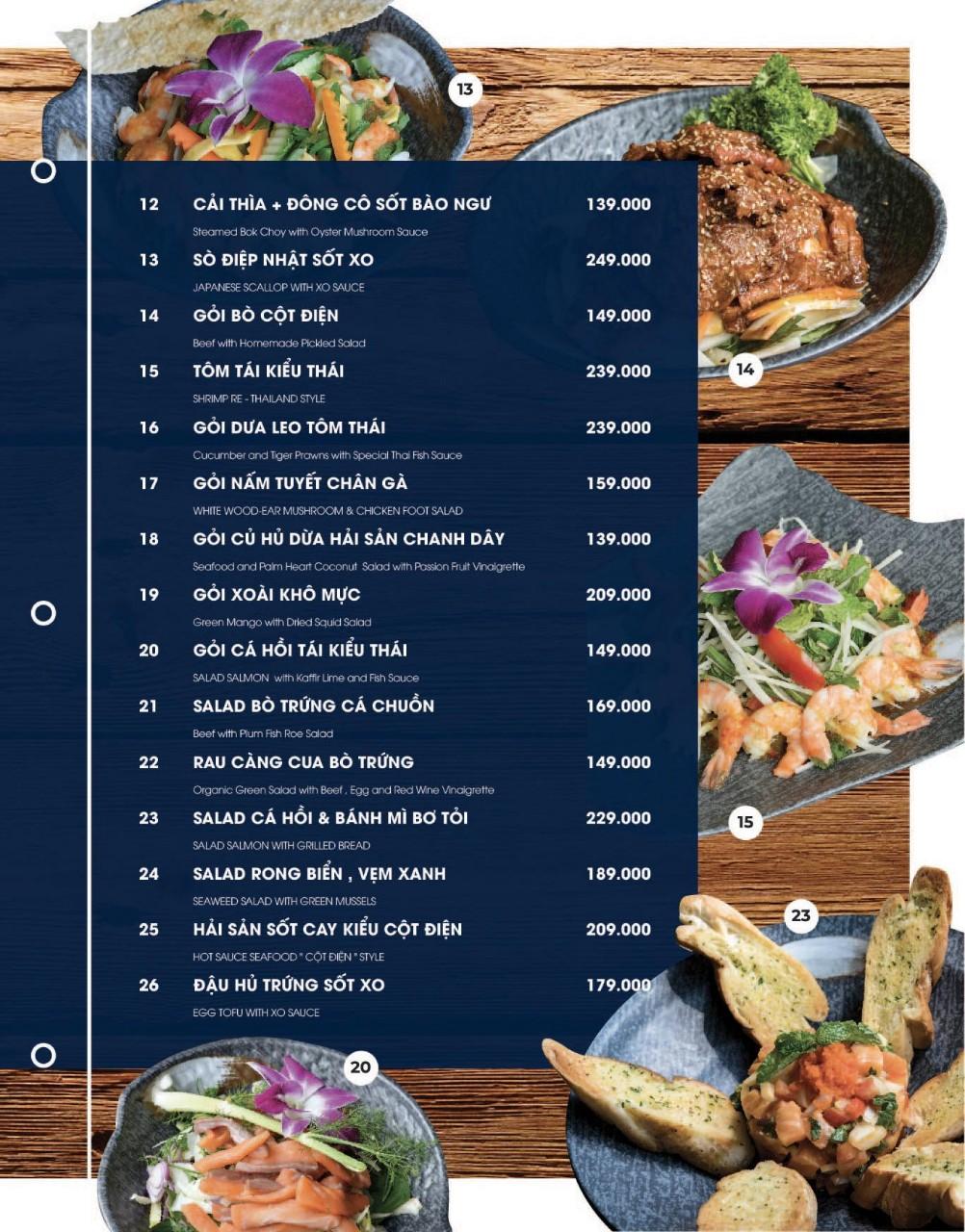 Menu Cột Điện Kitchen – Đồng Nai 3