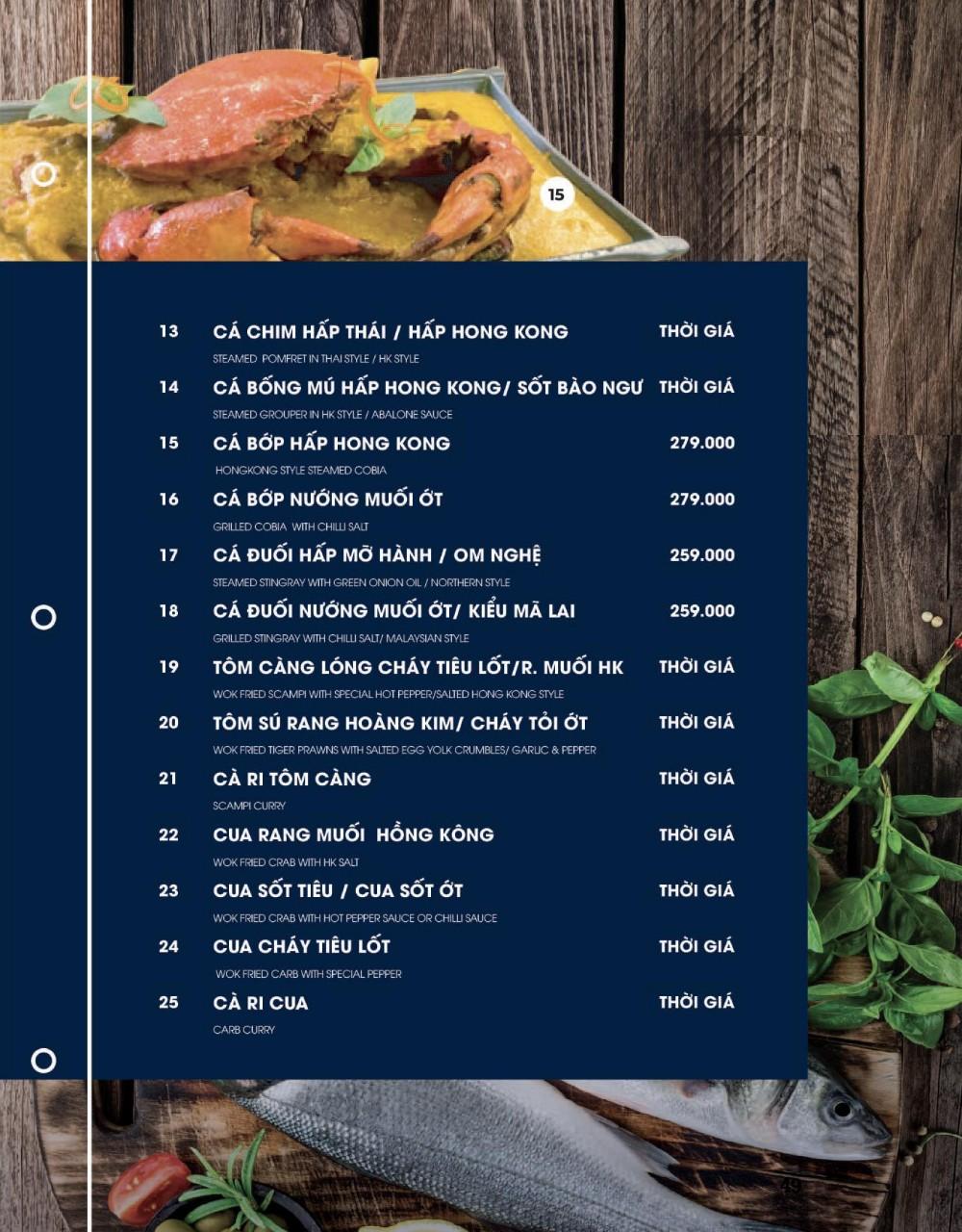 Menu Cột Điện Kitchen – Đồng Nai 7