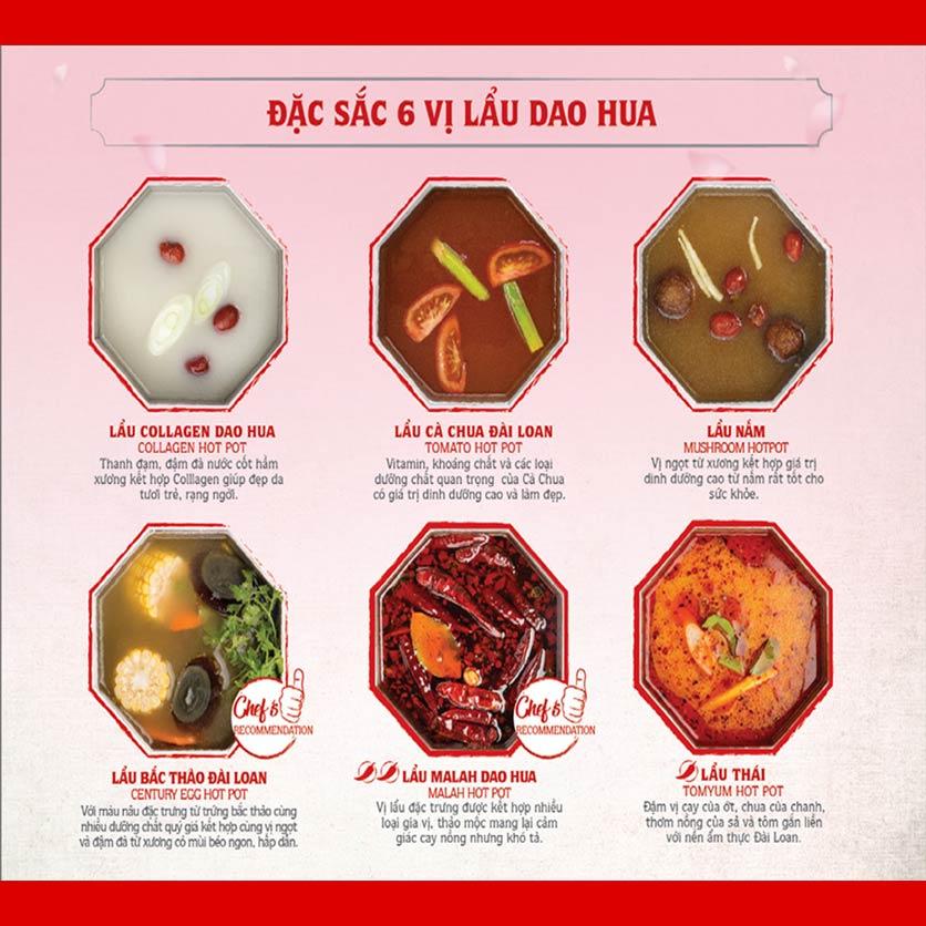 Menu Dao Hua – Hoàng Hoa Thám 1