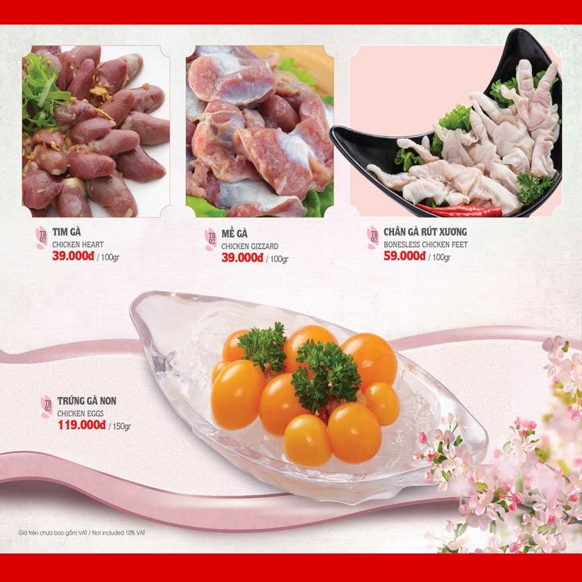 Menu Dao Hua – Hoàng Hoa Thám 13