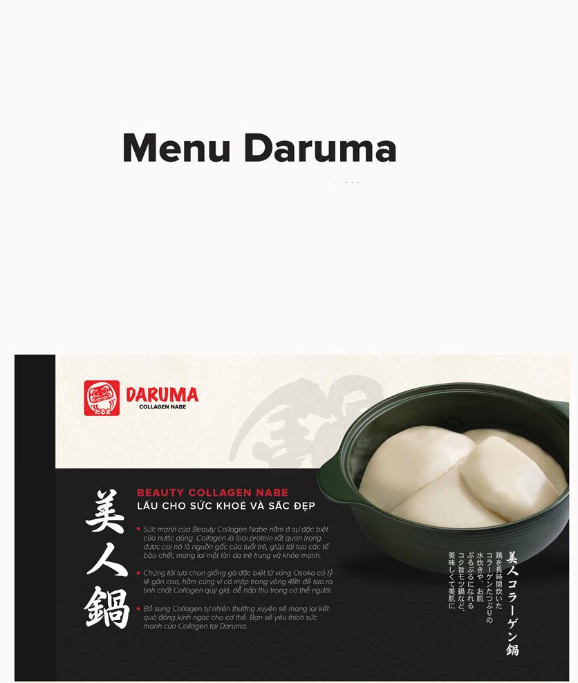 Menu Daruma - IPH Xuân Thủy 1