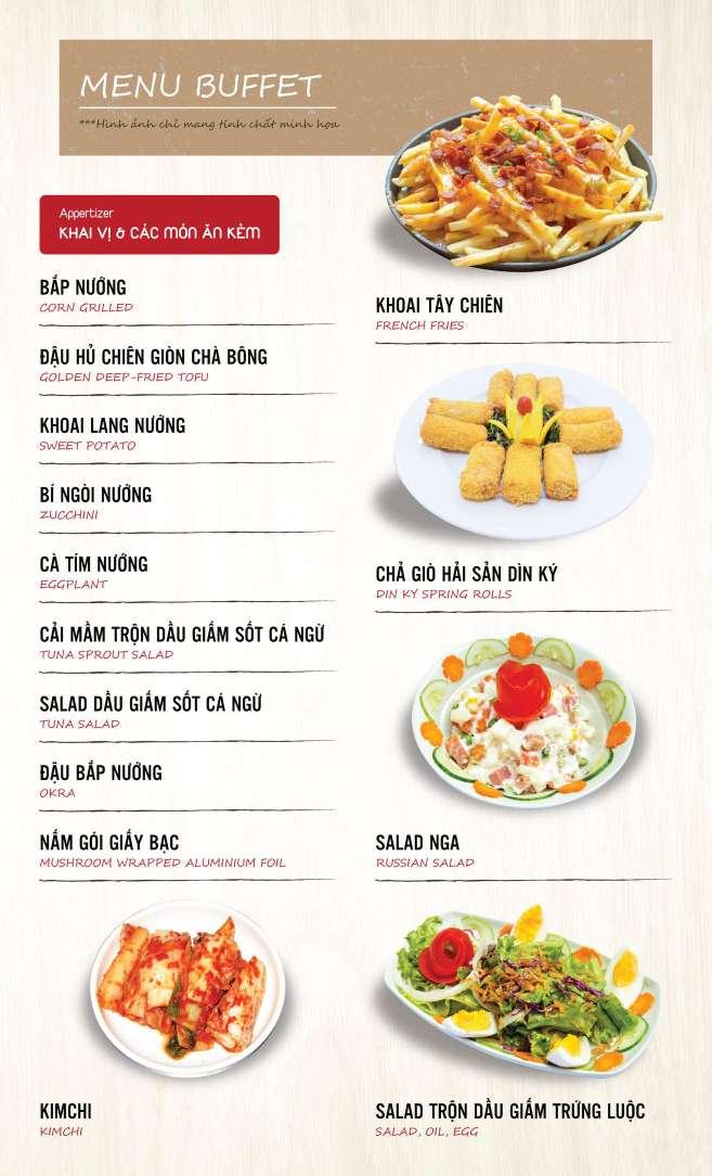 Menu DK BBQ & Hotpot Buffet - Hồng Hà  1