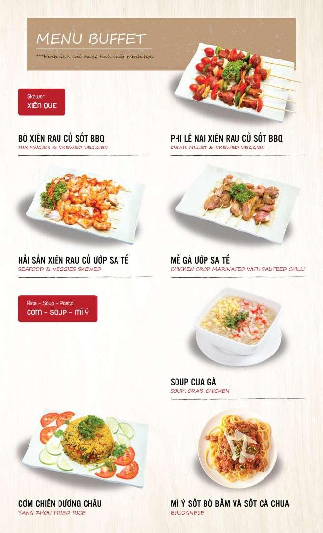Menu DK BBQ & Hotpot Buffet - Hồng Hà  2
