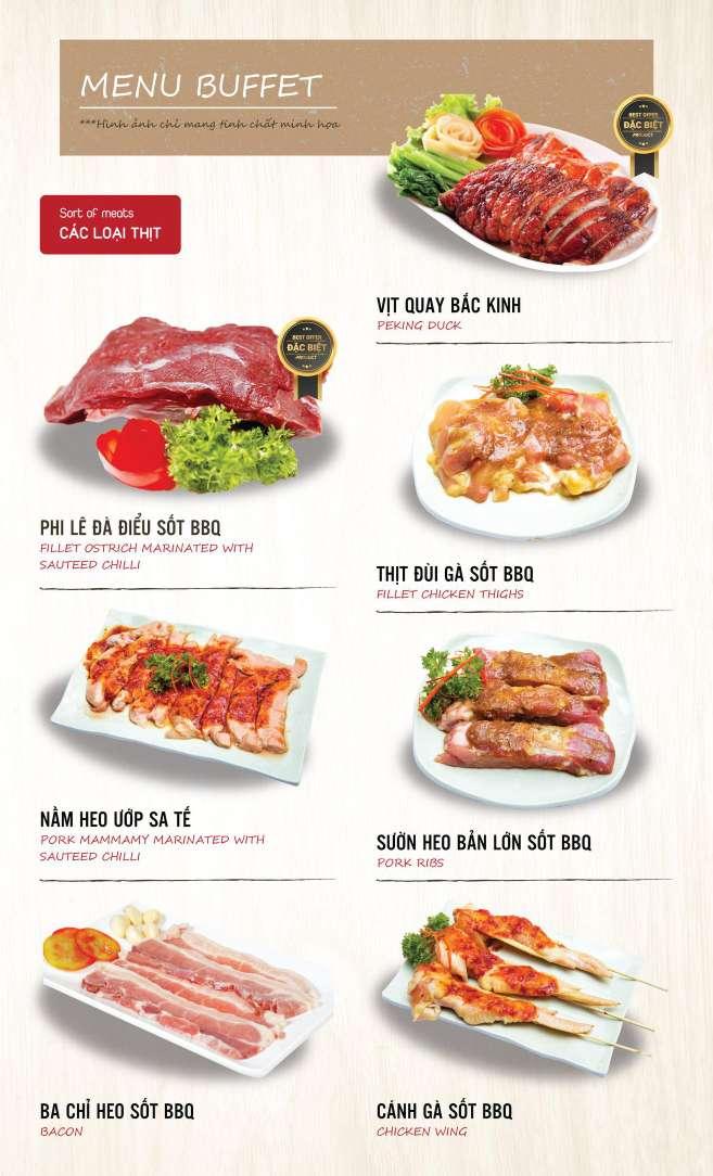 Menu DK BBQ & Hotpot Buffet - Hồng Hà  3