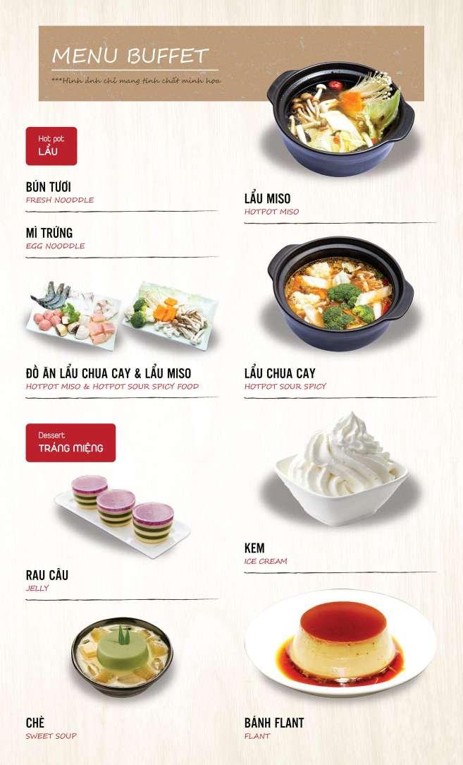 Menu DK BBQ & Hotpot Buffet - Hồng Hà  6
