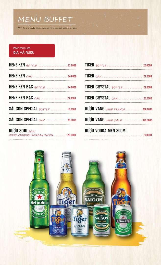 Menu DK BBQ & Hotpot Buffet - Hồng Hà  8