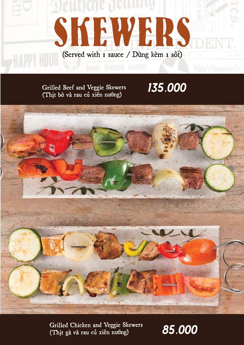 Menu Downtown Steakhouse - Hoa Mai 11