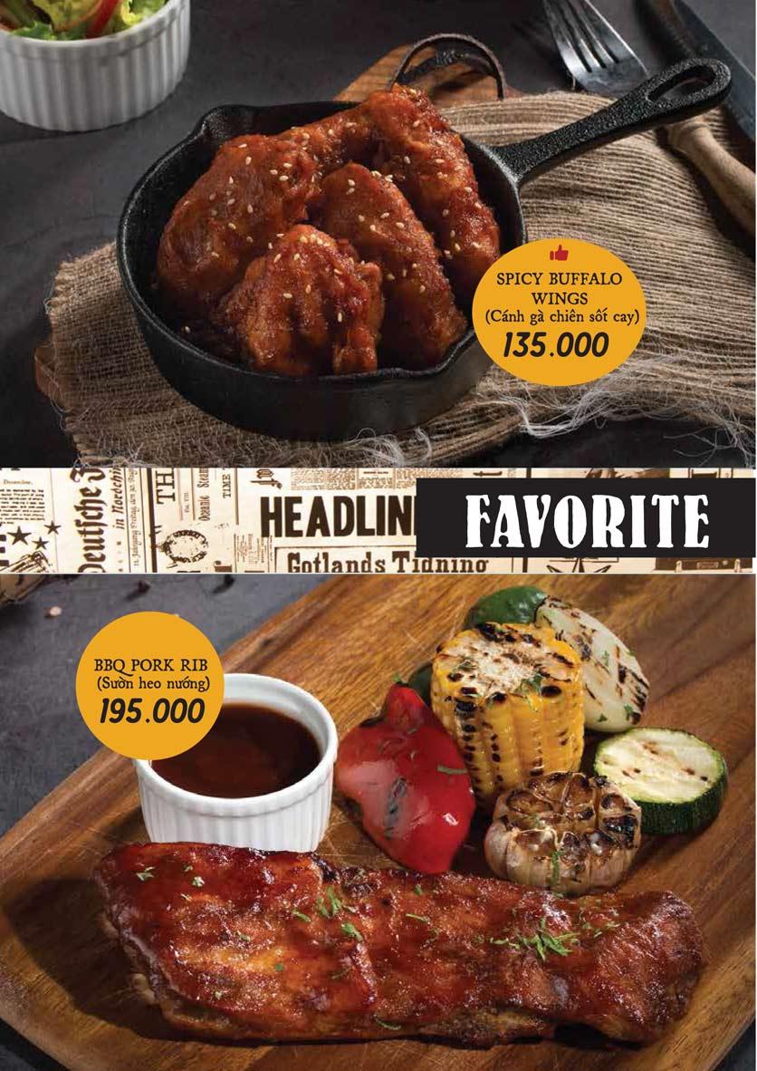 Menu Downtown Steakhouse - Hoa Mai 12
